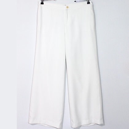 Ralph Lauren White Wide Trouser Pants