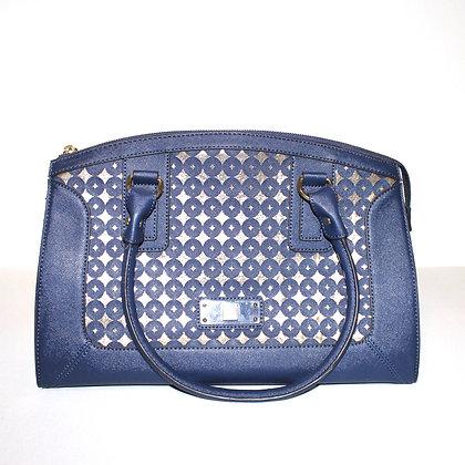 Anne Klein Gold and Navy Large Shoulder Handbag