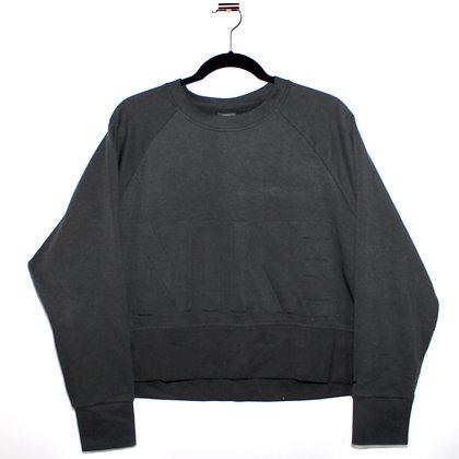 Nike Cropped Logo Sweatshirt Black Large