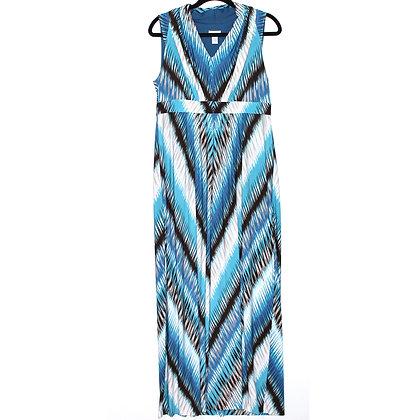 Chicos V-Neck Blue Maxi Dress