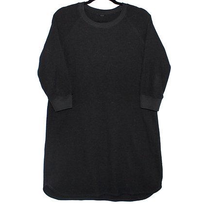 UNIQLO Black Waffle Dress Quarter Sleeve Large