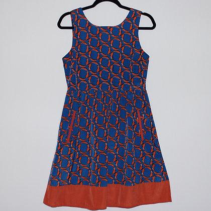 Fox Pattern Mini Dress Fit and Flare Small