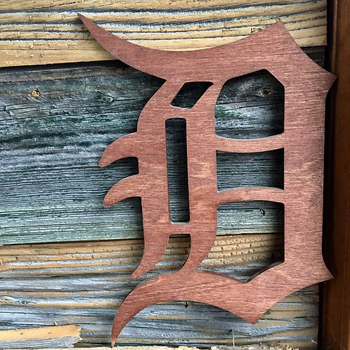 "detroit ""D"" wooden cut out"