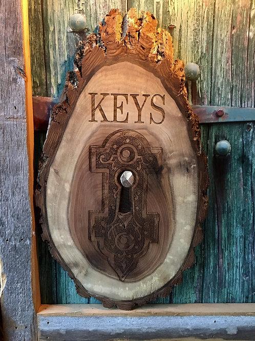 walnut key holder
