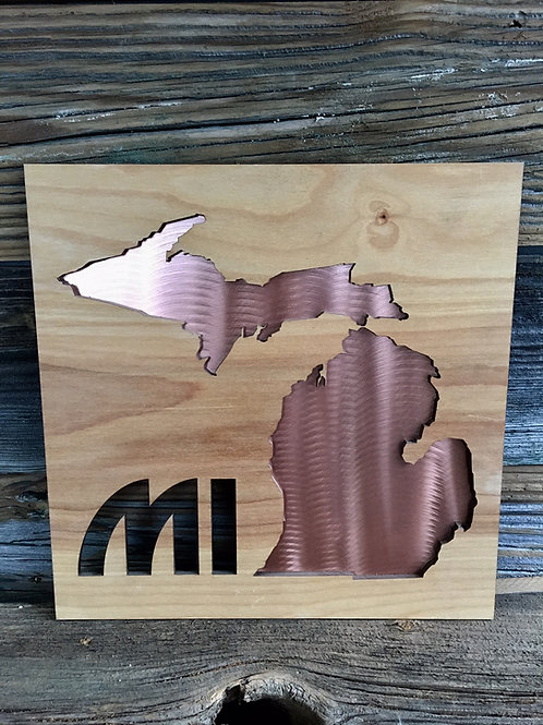 "12"" x 12"" Michigan sign"