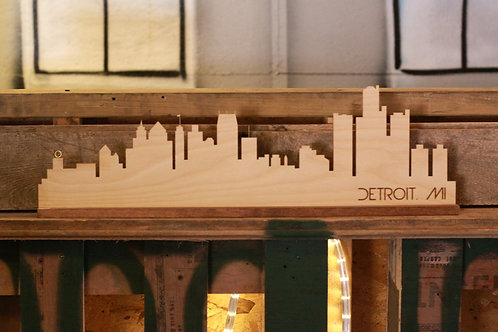 free standing detroit skyline