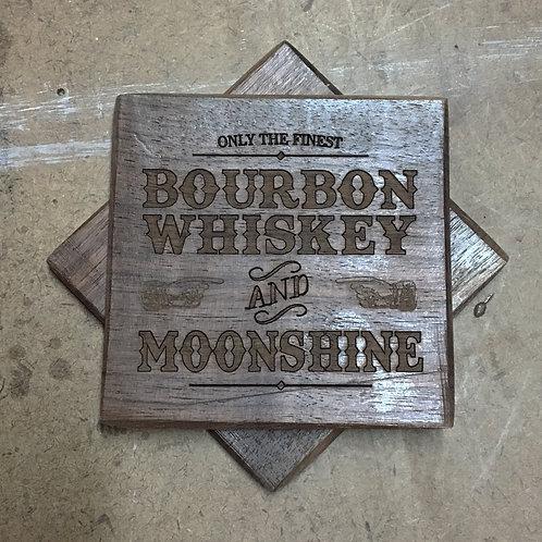 custom engraved walnut coasters (set of 4)