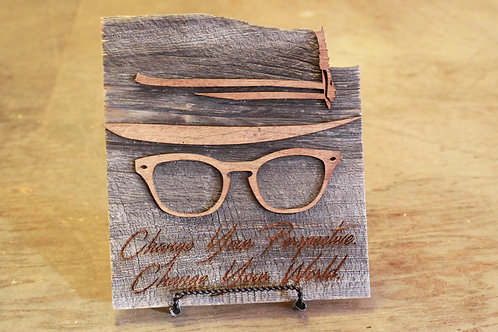 """barnwood """"perspective"""" sign"""