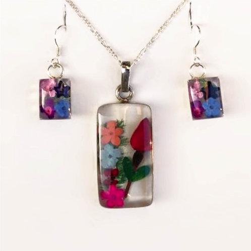 Transparencia de flores y rosa