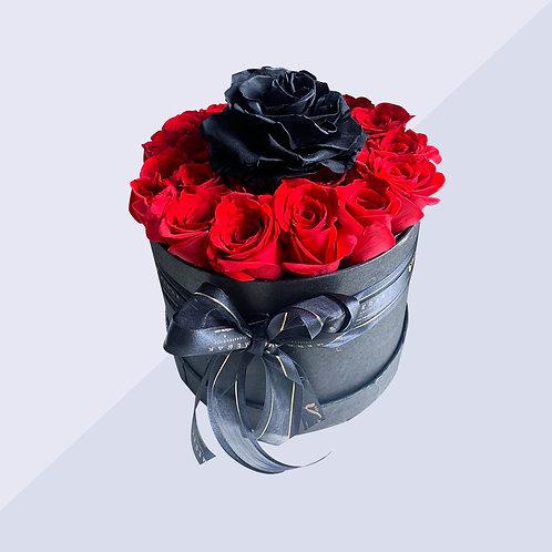 Arreglo de rosas en caja