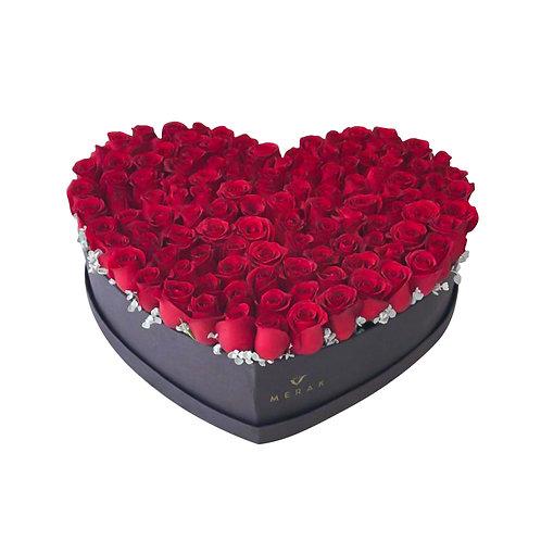 Corazón de rosas grande