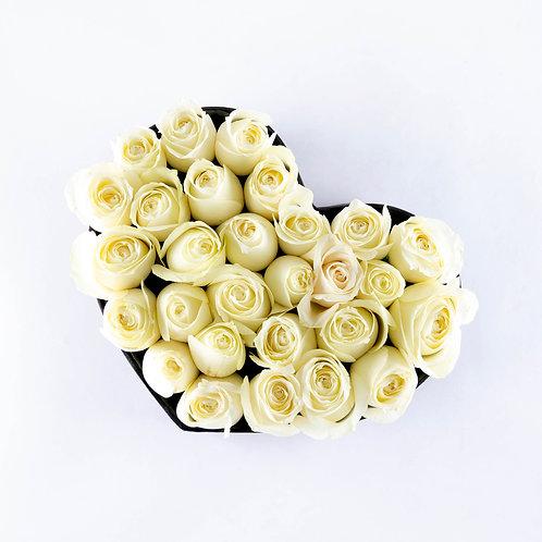 Pequeño corazón de rosas