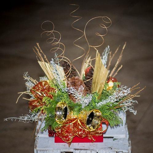 Caja con campanas navideñas