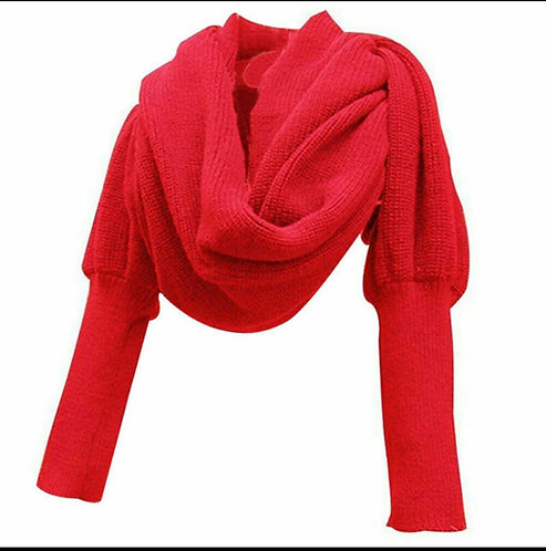 Red Scarf Sweater