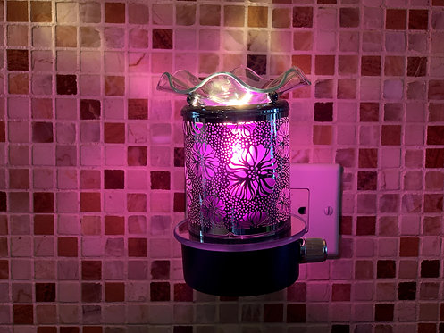 The Plug In Metallic Purple Flower Lamp