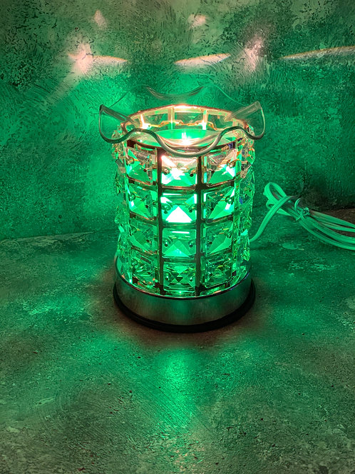 The Corded Emerald Lamp