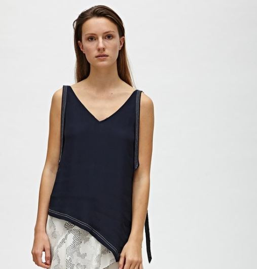 Cashmere blend top with ribbons. Fall 2018 collection.