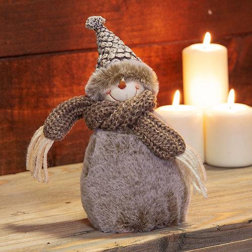 Fluffy snow man 25cm