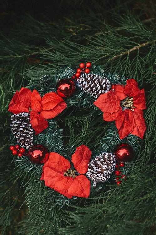 Natalie Poinsettia Wreath