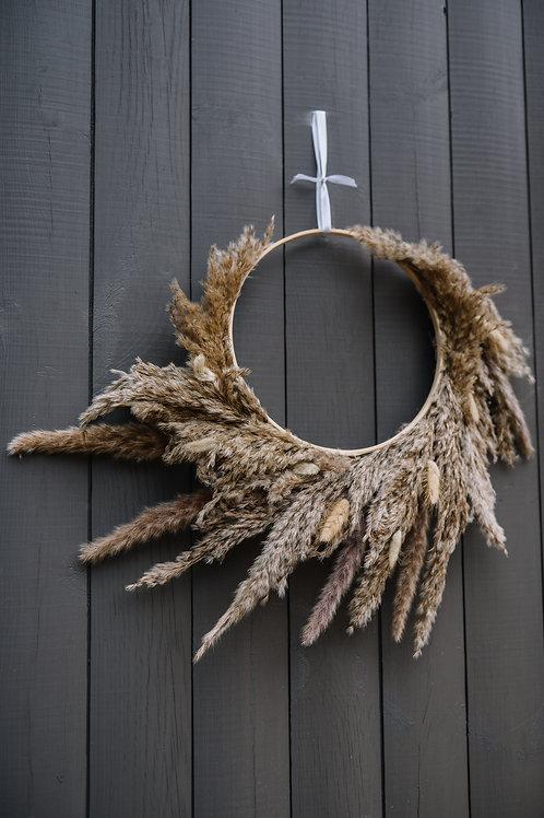 Dried Pampas Grass Wreath