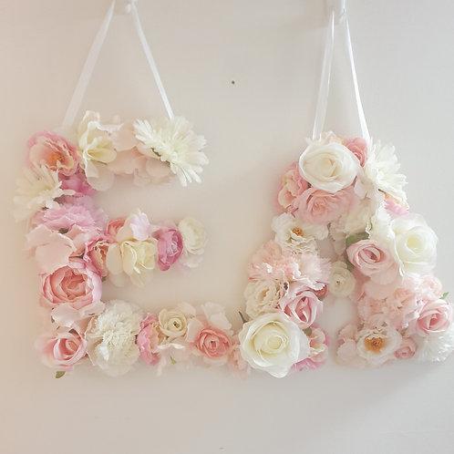 Hanging flower letter