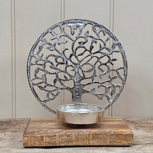 Tree of life tealight holder