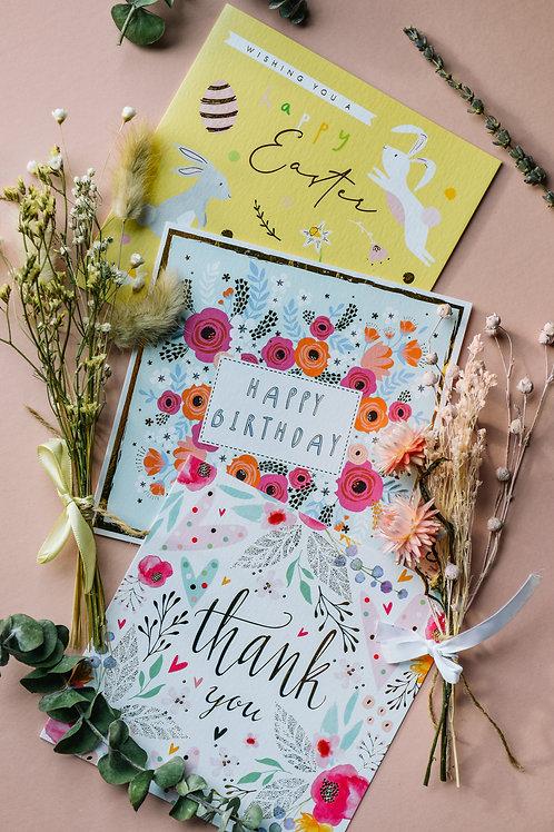 Sunny Yellow Dried Micro/Mini Flowers & Card option