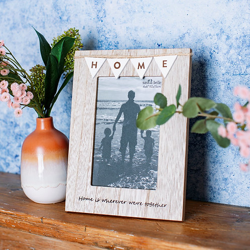 Bunting Shabby Sheek Frame - Home