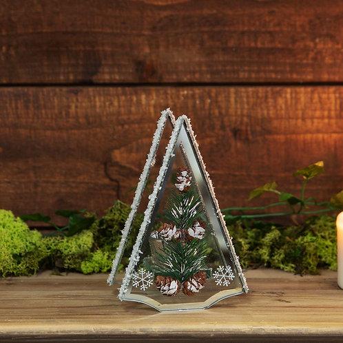 Triangle Christmas tree tealight holder