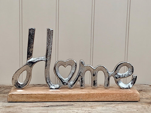 chunky wood base sign
