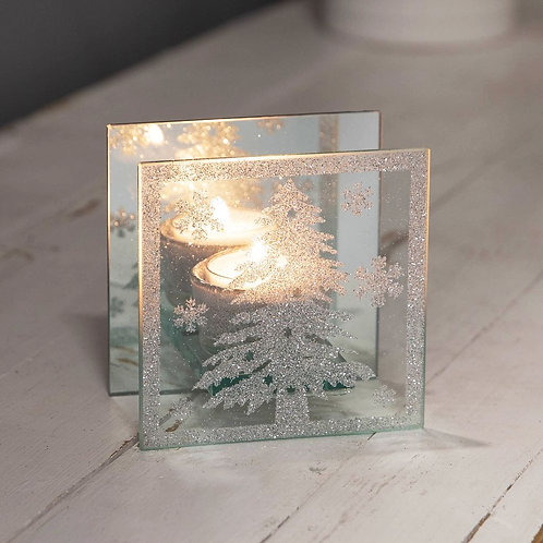 Christmas tree tealight holder