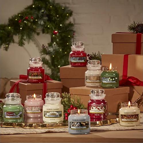 Small Christmas Yankee Jar