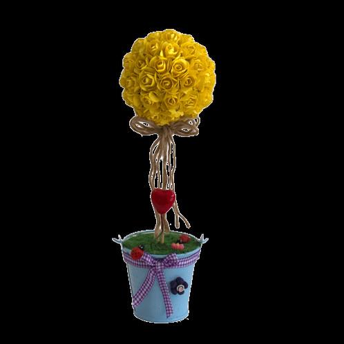 Smdreamland australia handmade potted flower ball yellow 30cm mightylinksfo
