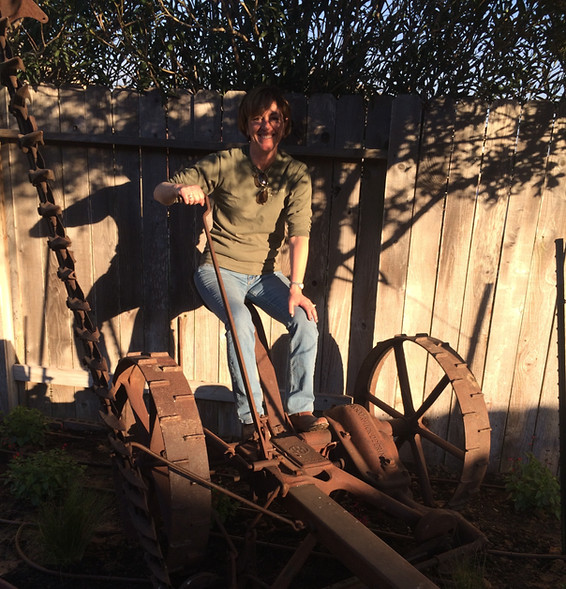 Yes, that's Amy on the hay cutter.