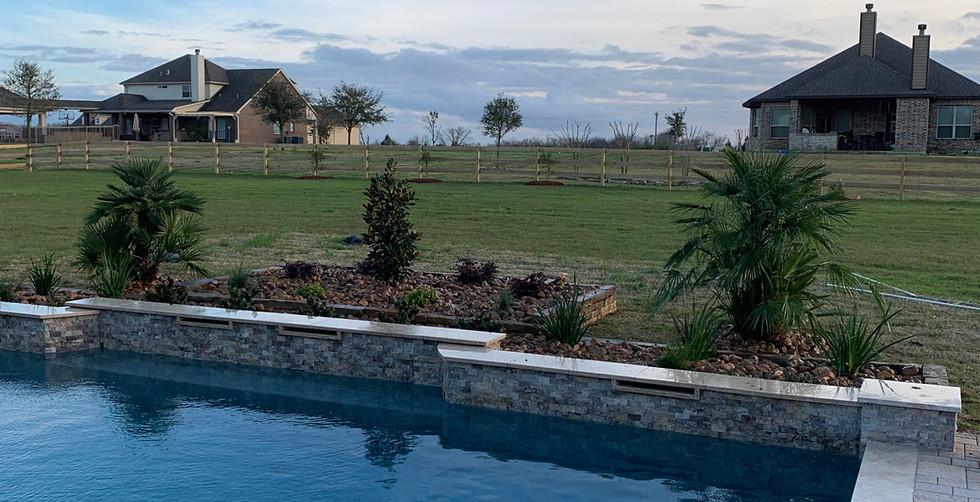 Pool backdrop