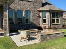 Bella Terra Model Home, Back Patio & Wall