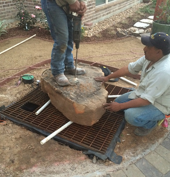 Water Feature Install, 1