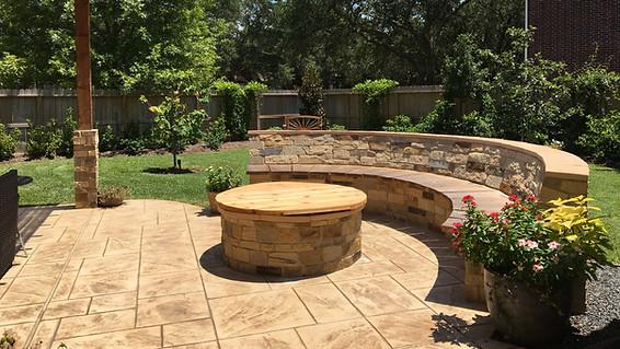 First Colony Backyard Firepit & Bench