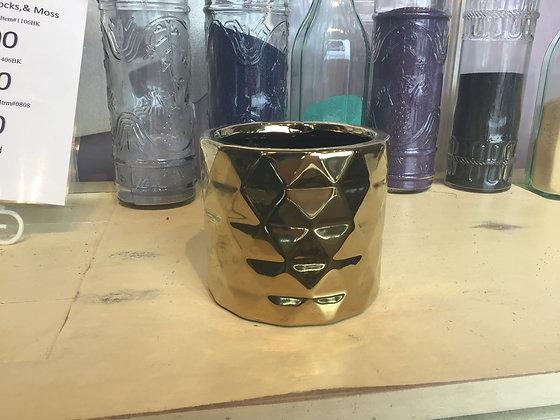Gold Vase or Planter