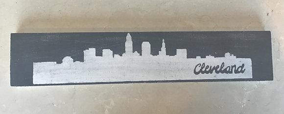 Cleveland Skyline - Black & White