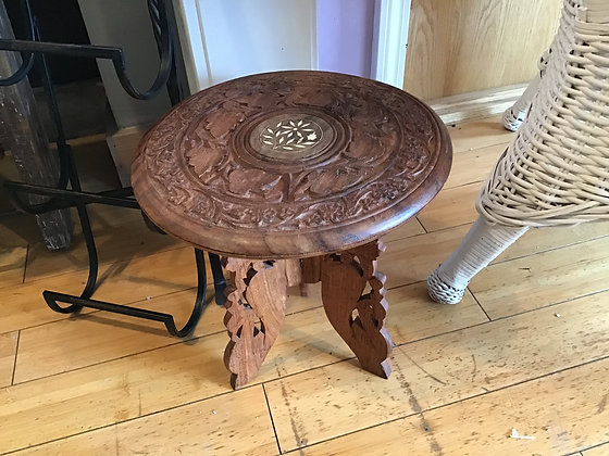 Vintage Hand Carved Plant Stand
