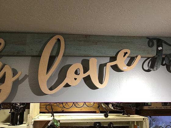 Wood Word - Love