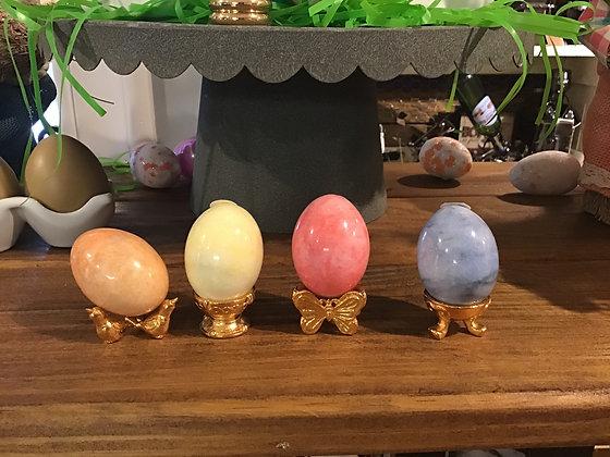 Shiny Glass Eggs - 2 inch