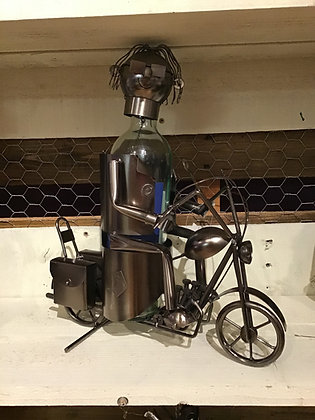 Motorcycle Rider Wine Caddy