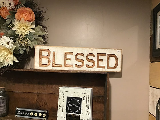 Carved Sign Blessed