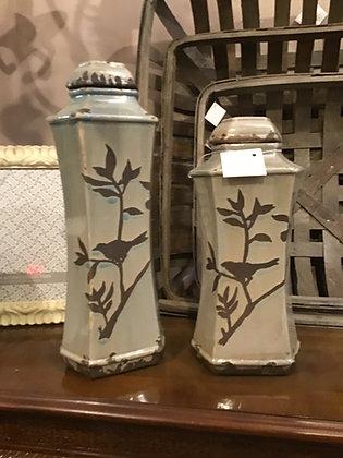 Marsh Lided Vases - Set of 2
