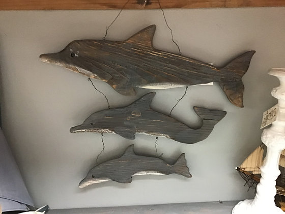 Rustic Wood Dolphin