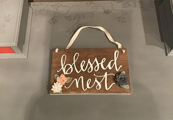 Blessed Nest Hanging Decor