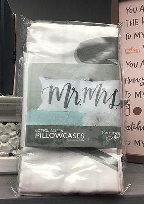 Pillowcase Set - Mr. Mrs.