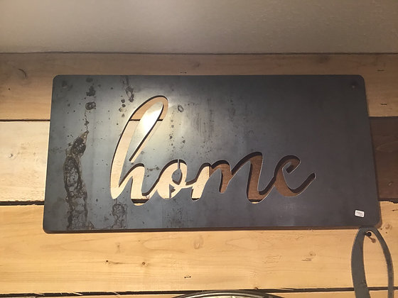 Metal Sign - Home